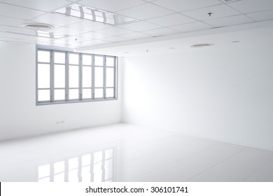 light white room with window and reflection