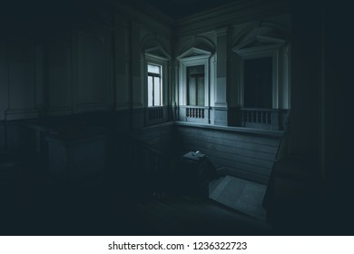 light from a window in abandoned building - dark mood style image