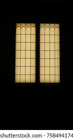 The light in the window of the old house inside the house