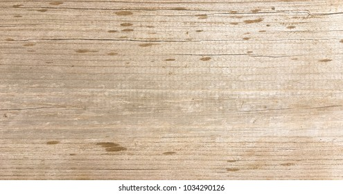 Light wood texture background, brown wood planks. Old washed wooden table pattern top view