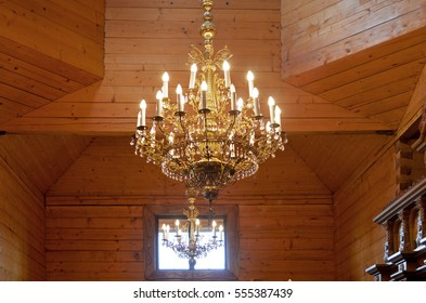 light in the wooden church
