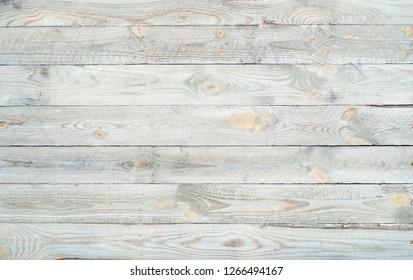 Light Wooden horizontal Wall Planking Texture. Solid Wood Slats Rustic Background. Horizontal  Wood Board Panel.