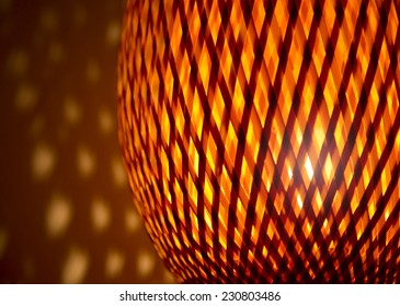 Light from a Woven lamp