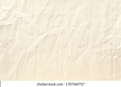 light yellow crumpled paper background texture