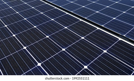 Light-active elements of photovoltaic panels set up in the village of Gąsiorowo in the mazovia of Poland. - Shutterstock ID 1992551111