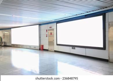 lightbox in subway