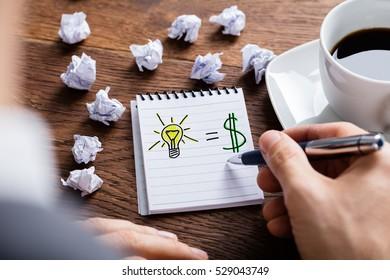 Lightbulb Dollar Entrepreneurship Concept