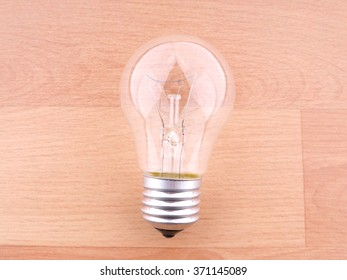 lightbulbs  on a wooden background