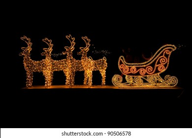 Lighted Christmas sleigh in Advent