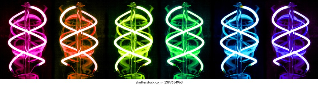 Light-emitting diodes constructed as filament emit bright light.