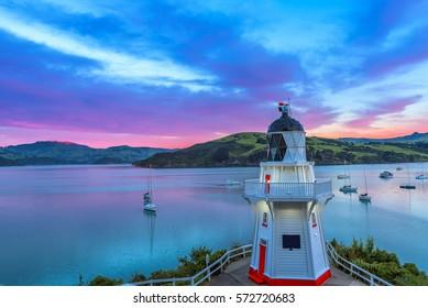 Lighthouse, Akaroa Lighthouse ,Sound, New Zealand