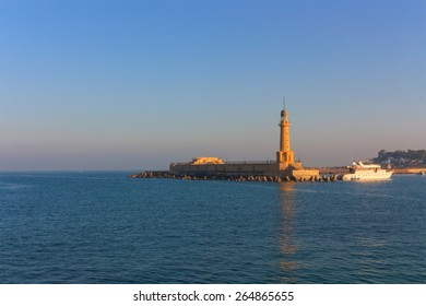 Lighthouse of Alexandria in the place of legendary pharos. Egypt
