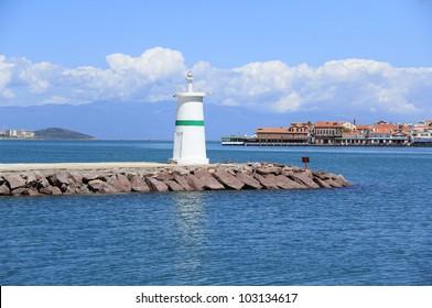 Lighthouse in Ayvalik , Turkey