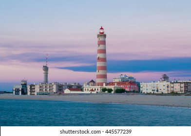 Lighthouse. Barra beach in Aveiro, Portugal. Aveiro Lighthouse.Tallest in Portugal and one of the world's tallest