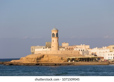 Lighthouse in the bay of Sur, near Muscat, in Oman