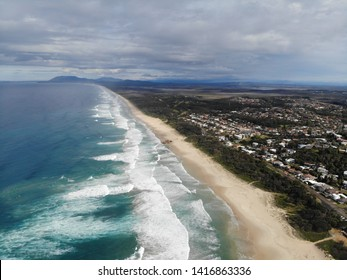Lighthouse Beach in Port Macquarie from above tacking point looking south