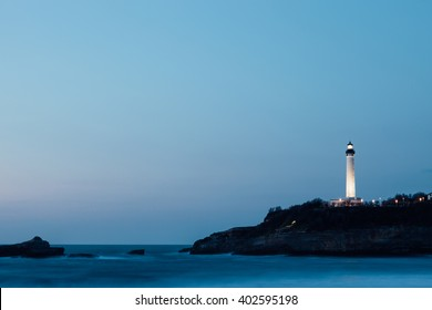Lighthouse in Biarritz in southern France.