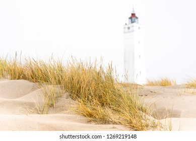 Lighthouse in  Blavand, Denmark