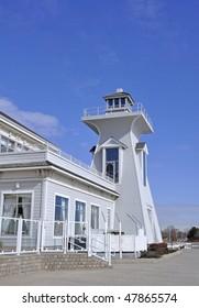 lighthouse in Bronte Oakville marina  Ontario, Canada