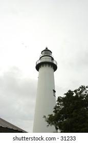 Lighthouse at Brunswick Georgia with Gulls