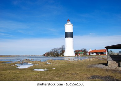 The lighthouse by Ottenby at the swedish island Oland in the Baltic Sea, a famous birdwatching site