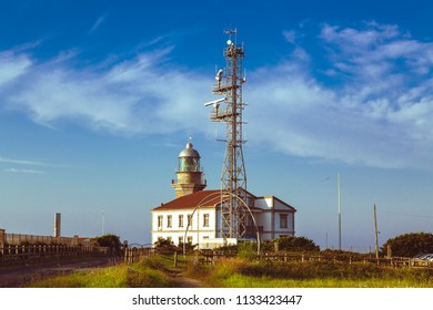 Lighthouse of Cabo Peñas in Asturias, in the north of Spain