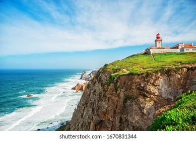 Lighthouse at Cabo da Roca in Portugal.  the westernmost point of europe