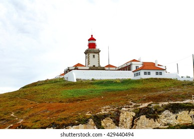 Lighthouse at Cabo da Roca, the westernmost point of Continental Europe, near Lisbon, Portugal