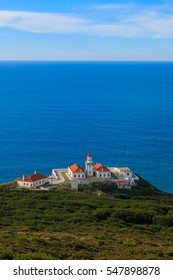 Lighthouse in Cabo Mondego, Figueira da Foz. Portugal