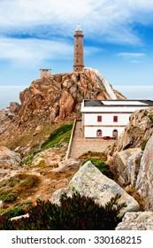 Lighthouse Of Cabo Vilan, Galicia, Spain