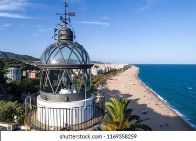 Lighthouse of Calella (Maresme, Barcelona) taken from a drone