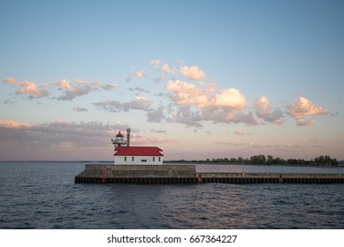 Lighthouse in Canal Park in Duluth, Minnesota