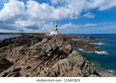 Lighthouse of Cap de Favaritx on Menorca,Balearic Islands
