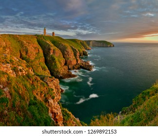 Lighthouse in the Cap Frehel, Brittany, France