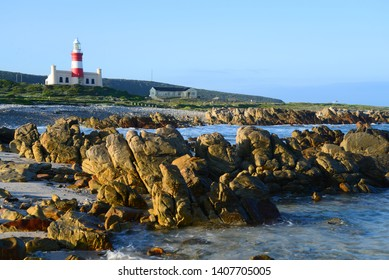 Lighthouse at Cape Agulhas in the Overberg, South Africa