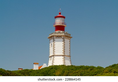 The lighthouse at Cape Espichel is a lighthouse located at Cape Espichel, municipality of Sesimbra, Setubal, Portugal