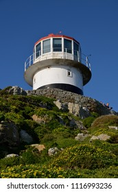Lighthouse of Cape Point in Cape of Good Hope Nature Reserve in Cape Peninsula, Western Cape, South Africa.