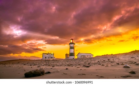 Lighthouse at Cape Recife, Port Elizabeth, South Africa