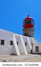 Lighthouse at Cape Saint Vincent, Portugal. The most southwestern point in Europe.