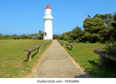 Lighthouse at Cape Schanck on the Mornington Peninsula in Victoria Australia