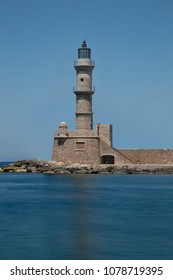 The lighthouse of Chania city Crete