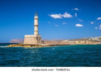 The lighthouse of Chania at Crete, Greece