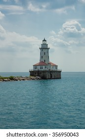 The lighthouse of Chicago Lake Michigan