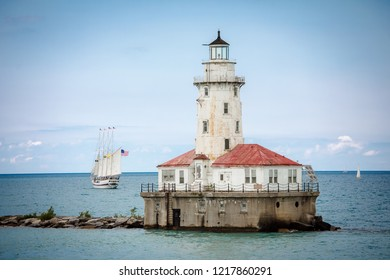 lighthouse with cloud  and blue sky