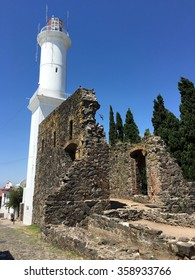 Lighthouse in Colonia del Sacramento, Uruguay