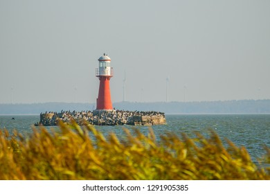 Lighthouse in the Curonian Lagoon.