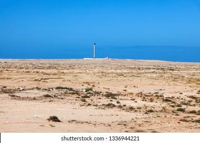 Lighthouse in Dakhla. Dakhla, Western Sahara, Morocco.