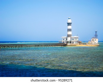 Lighthouse at Deadalus Reef, Red Sea, Egypt