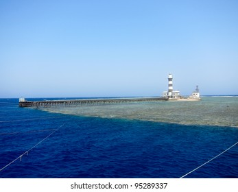 Lighthouse Deadalus Reef, Red Sea, Egypt