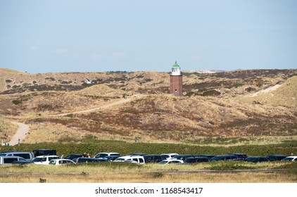 Lighthouse in the dune landscape on Sylt near Kampen the 08.06.2018